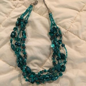 Jewelry - 🌻blue and black beaded necklace🌻